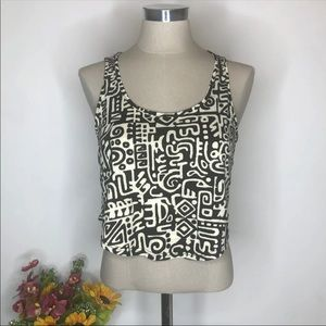 Forever 21 Patterned Crop Top Small
